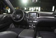 [포토] 넓고 고급스러운 공간이 돋보이는 쌍용자동차 G4 렉스턴